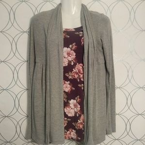 Womens Forever 21 Grey Open Front Cardigan